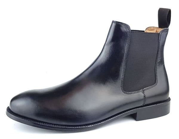 Leather Sole Mens Chelsea Boots Black